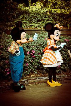 Mickey and Minnie by abelle2, via Flickr