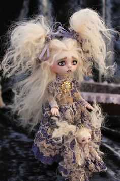 gothic fairy tale art | OOAK Gothic Fairy Tale Monster Vampire Goth Posable Art Doll A Gibbons ...