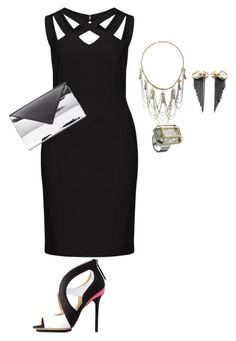 plus size sexy diva/lbd style by kristie-payne on Polyvore featuring Dresses Unlimited, Charlotte Russe, Givenchy, Thor & Wistle, Miss Selfridge and Swarovski