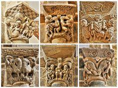 Villanueva de Teverga, Asturias - Colección de capiteles románicos de la iglesia de Santa María