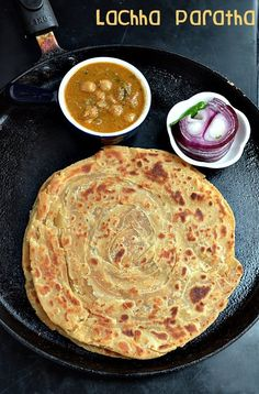 Today's recipe for BM#24 for day 2 under the theme restaurant menu card is Indian bread,for this I chose to make Lachha paratha. Lachh...