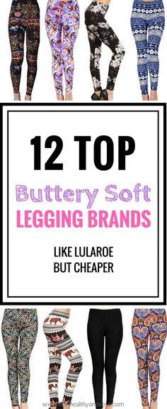 Top 12 Buttery Soft Legging Brands like LuLaRoe but Cheaper via @leanhealthywise