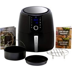 New Simple Living Air Fryer, XL Hot Digital Air Fryer. 3 Air Fryer Accessories, Custom Recipe Book, 8 Cooking Presets, Non Stick Basket & Keep Warm Function online shopping - Chicprettygoods Air Fry Steak, Fryer Machine, Cooking Appliances, Small Appliances, Air Frying, Cookbook Recipes, Air Fryer Recipes, Original Recipe, Keep Warm