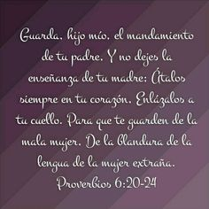 Proverbios 6:20-24