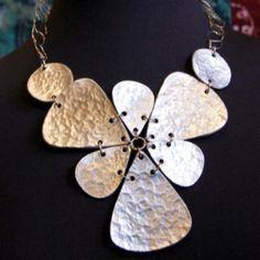 handmade popcan bib necklace