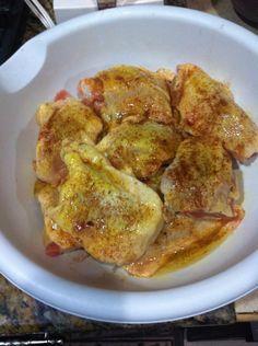 Pollo al horno con salsa Glous