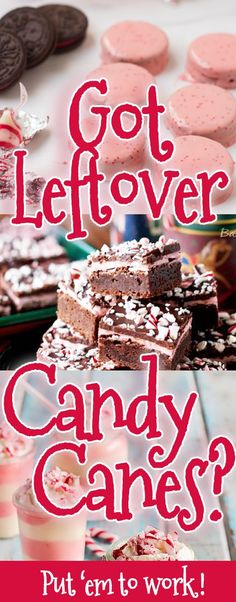 Leftover candy canes? Don't just throw them away, put 'em to work in these genius dessert #recipes!  Merry Christmas everyone.