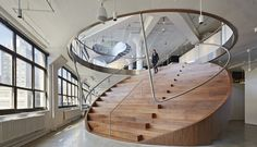 Love this round staircase
