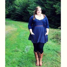 Plus Size Fashion - Duo Wide Calf Boots -  http://kathastrophal.de #plussize #outfit