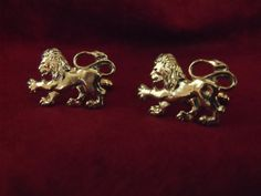 Rampart Lion Mens Cufflinks White Bronze by AGothShop on Etsy, $20.00