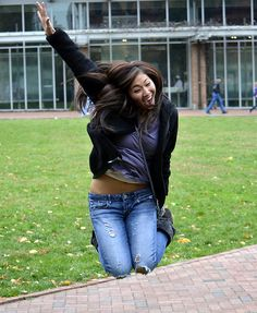 Liz jumping!