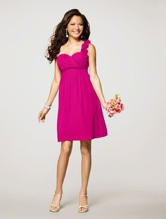 Bridesmaids Dress - Fuchsia (Alfred Angelo) 7138