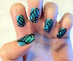 butterflies nail art design