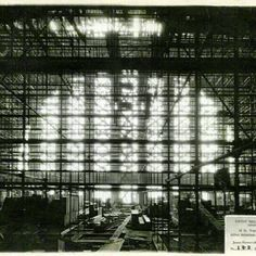 Timeline Tuesday 06/12/2012: Ever wonder what's underneath Union Terminal's giant, plaster dome? Massive amounts of scaffolding!     1932: Installation of Union Terminal's interior plaster dome begins after final pieces of scaffolding are put into place. #CincyMuseum #TimelineTuesday #museum #cincinnati #UnionTerminal #history