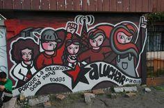 Anarchist streetart, Chile