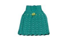 Knitting Toddler emerald dress, toddler dress, emerald dress, handmade