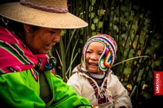 A mom and her son from the Island of Uros, Puno.