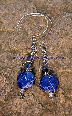 Sterling and Aqua Terra Earrings by lilriverdesigns on Etsy, $30.00
