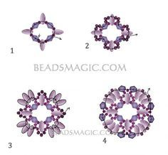 FREE Pattern for Earrings DULCE. Page 2/3. By BeadsMagic