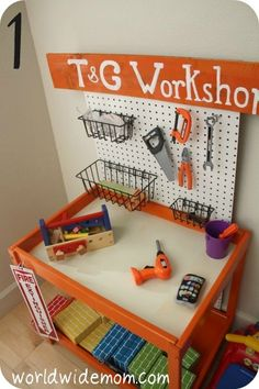 IKEA Hackers: Toy Kitchen from a changing table more ideas for the table when done. activities-for-kids