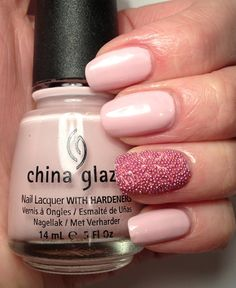 My Nail Art - China Glaze Something Sweet with Pink Caviar **Love my designs...why not follow me on Instagram IG@teenbeaningtons
