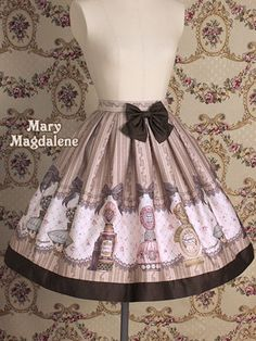 Mary Magdalene Perfume Bottle Print Lolita Skirt