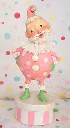 Pink Santa by the Polka Dot Pixie - vintage inspired