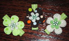 Light Green/Brown Alligator Hair Clips  by ImFineHairClipDesign, $8.25