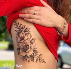 tattoo designs for women & tattoo designs ; tattoo designs for women ; Rib Tattoos For Women, Tattoos For Women Flowers, Beautiful Flower Tattoos, Side Thigh Tattoos Women, Pretty Tattoos For Women, Girl Back Tattoos, Dope Tattoos, Forearm Tattoos, Body Art Tattoos