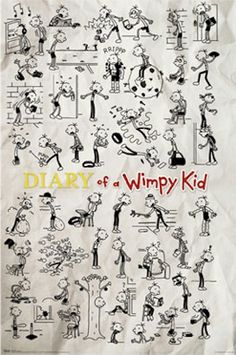 Diary of a Wimpy Kid poster. For N.