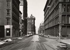 Grand Street At Crosby Street, Soho, by Thomas Struth, 1978 New York Soho, New York City, City Landscape, Urban Landscape, Moma, List Of Artists, New York Street, Film Stills, Historical Society