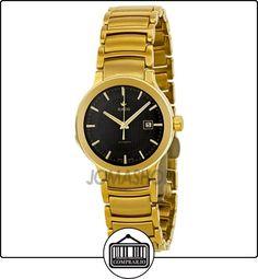 Revolucionaria Rado automática de la esfera de color negro de color amarillo oro-plateado de acero inoxidable reloj de pulsera para mujer R30280153  ✿ Relojes para mujer - (Lujo) ✿