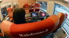 Italo's features include a cinema carriage and free Wi-Fi access throughout the train.
