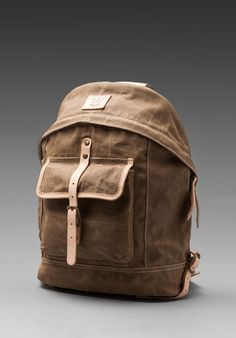 WILL Leather Goods Wax Coated Canvas Dome Backpack $175.00