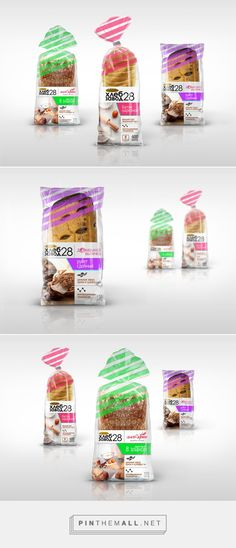 Hlebzavod28 #bread #packaging by Aleksandra Abramova - http://www.packagingoftheworld.com/2015/01/hlebzavod28.html
