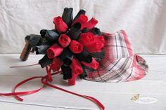 wooden rose bridal bouquet {gangster theme}