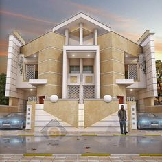 Most 50 Beautiful House Design For 2020 - Engineering Discoveries House Front Wall Design, Two Story House Design, 2 Storey House Design, Village House Design, House Gate Design, Bungalow House Design, Modern House Design, Villa Design, Modern Houses