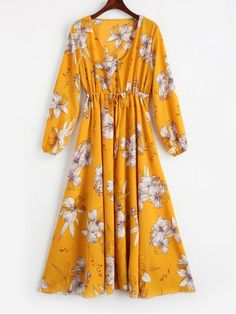 Up to 80% OFF! Plunging Neck High Waist Floral Dress. #Zaful #Dress Zaful,zaful dress,zaful outfits,black dress,dress,dresses,fashion,fall fashion,fall outfits,winter outfits,winter fashion,dress,long dress,maxi dress,long sleeve dress,flounced dress,vintage dress,casual dress,lace dress,boho dress, flower dresses,maxi dresses,evening dresses,floral dresses,long dresses,party dresses,gift,Christmas,ugly Christmas, New Year 2017, New Year Eve. @zaful Extra 10% OFF Code:ZF2017