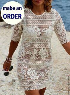 Fabulous Crochet a Little Black Crochet Dress Ideas. Georgeous Crochet a Little Black Crochet Dress Ideas. Filet Crochet, Crochet Blouse, Crochet Lace, Knit Dress, Mode Crochet, Summer Tunics, Crochet Woman, Crochet Fashion, Blouse Vintage