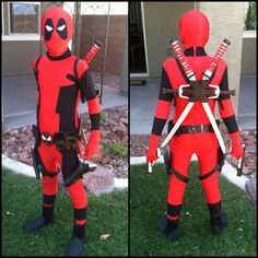 deadpool costume for kids - Yahoo Image Search Results - Kids Costumes Superhero Dress Up, Diy Superhero Costume, Halloween Costumes Kids Boys, Homemade Halloween Costumes, Halloween 2014, Boy Costumes, Super Hero Costumes, Halloween Party, Costume Ideas