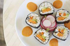 fourth and olive: vegan sweet potato sushi