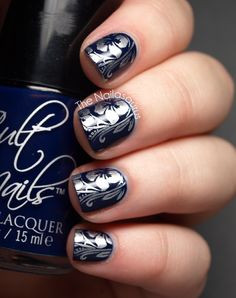 Base Colour: Cult Nails Time Traveler  Stamping Colour: Barry M Silver Foil  Stamping Plate: Bundle Monster BM318