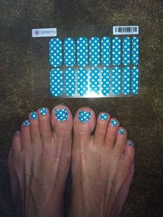 These are NOT my feet, but look!  One pedicure and look how much more is still remaining for more sets.  Jamberry Nail Wraps Manicure