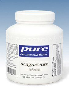 Pure Encapsulations- Magnesium (citrate) 150 mg 180 vcaps