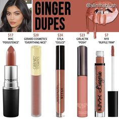 WEBSTA @ allintheblush - Will this brighten up your Monday? #GINGER ALTERNATIVES are here! I can't promise these shades will be identical because Kylie's Summer Lipkits haven't been released yet - but I compared her swatches with swatches of these and thought they were pretty close. Please leave me your thoughts