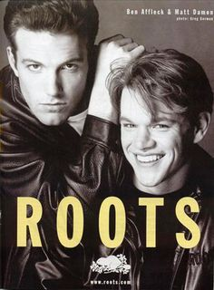 Taking you back to 1997 - Ben Affleck and Matt Damon decked out in Roots leather. While filming in Toronto, some of the cast from Good Will Hunting took part in our photo shoot.