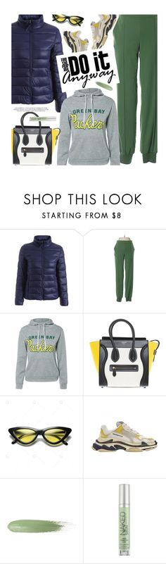 """""""In My Hood: Cozy Hoodies"""" by beebeely-look ❤ liked on Polyvore featuring G by Giuliana Rancic, CÉLINE, Balenciaga, Urban Decay, casual, casualoutfit, Hoodies, puffercoats and gamiss"""