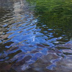 Oil painting. Water.