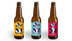 Packaging Insoumise. Bière artisanale.