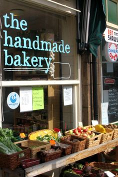 The Handmade Bakery front window - one business that is bucking the economic trend!